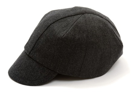 Outlier Wool Lotus Cap In Charcoal