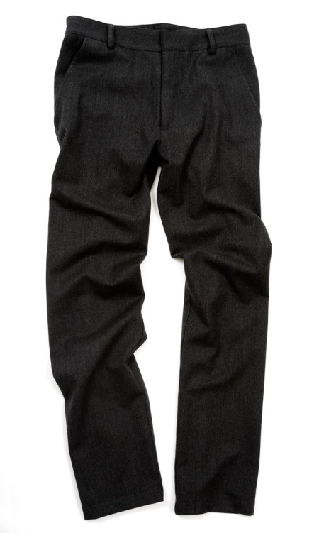 Wool Lotus Trousers In Charcoal