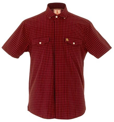 Baracuta Fraser Tartan Short Sleeve Shirt - Red