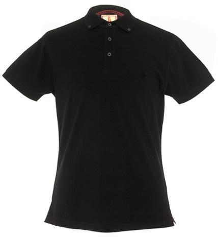 Baracuta Short Sleeve Button Down Polo - Black