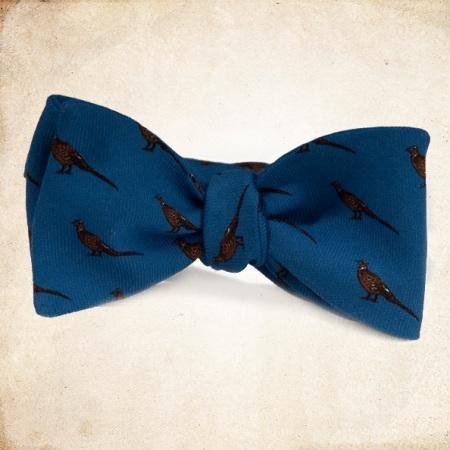 Woven Pheasant Bow Tie