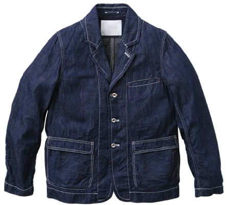 8oz Cotton Irish Linnen Denim Lapped Seam Lapel Jacket