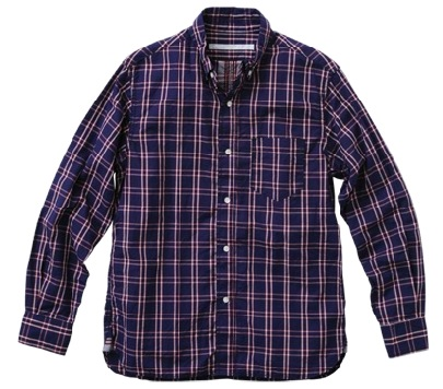 Cotton Ramie Check Center Seam Shirt