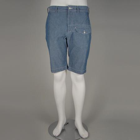 ENGINEERED GARMENTS BLUE CHAMBRAY GHURKA SHORTS