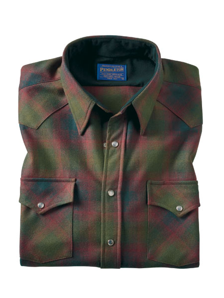 10-oz. Wool Snap-Front Western Shirt