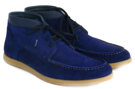 SHOFOLK Harry Navy Suede Boot