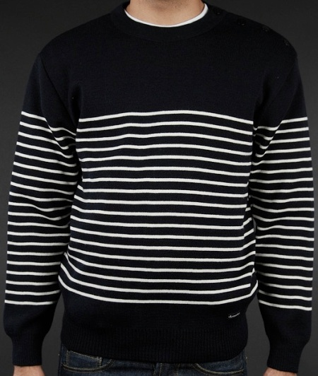 ARMOR LUX DUMET STRIPED SWEATER