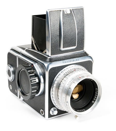 First Hasselblad camera model 1600F with Kodak Ektar lens