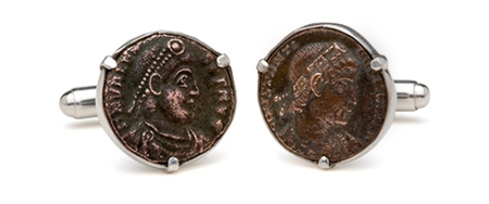 Tokens & Coins Authentic Roman Coins Cuff Links