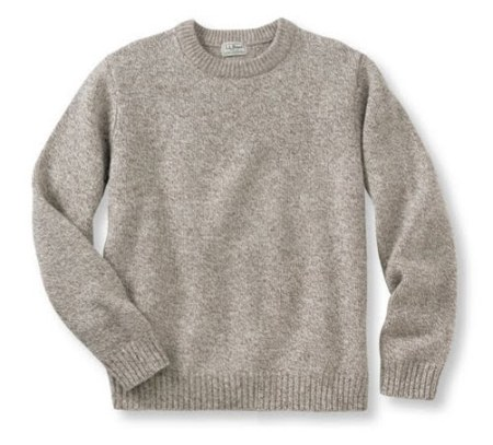L.L.Bean Ragg Wool Sweater Oatmeal